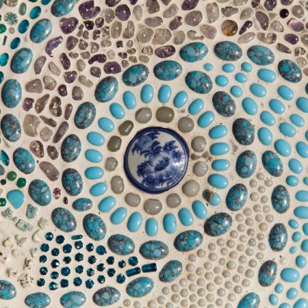 glazed: Colorful glazed tile background