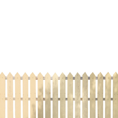 White fences on white background photo