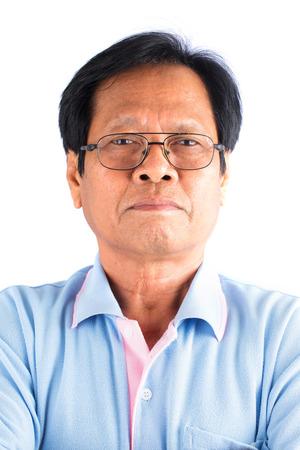 face close up: Asian old man