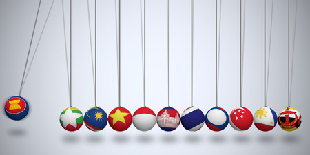 AEC flags on Newton balls