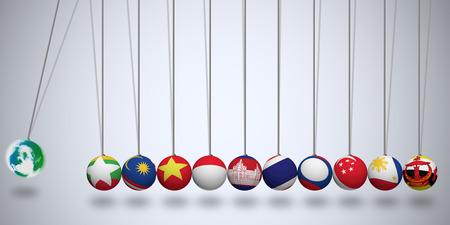 aec: AEC World Newton balls Stock Photo