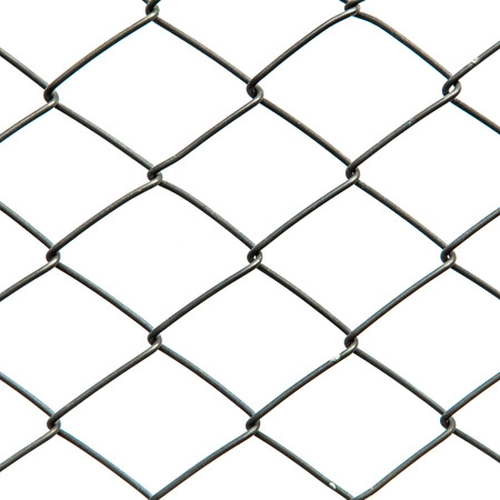 Metal net isolated on white background  photo