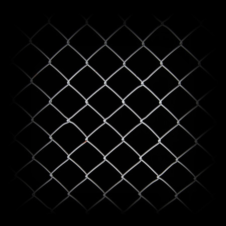 chainlink: Metal net isolated on black  Stock Photo