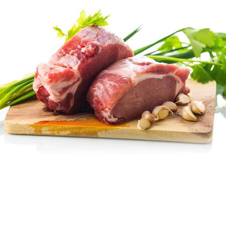 porc: Raw pork meat