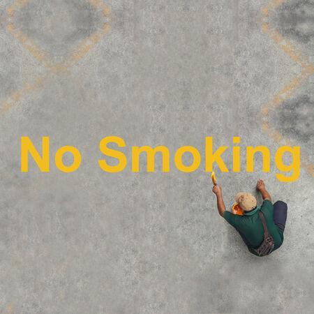 Painting No Smoking on the floor photo