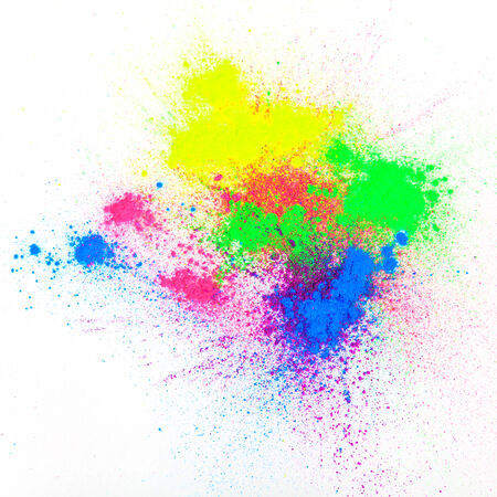 colored powder: Color powder on white background