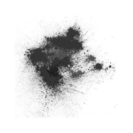 black powder: Black powder on white background