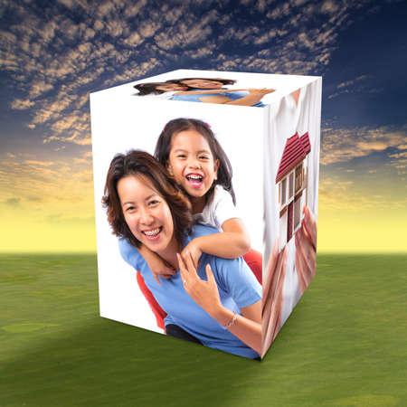 happy family concept: Happy family concept  Stock Photo