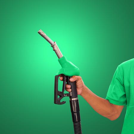bomba de gasolina: Trabajador gasolinera y servicio