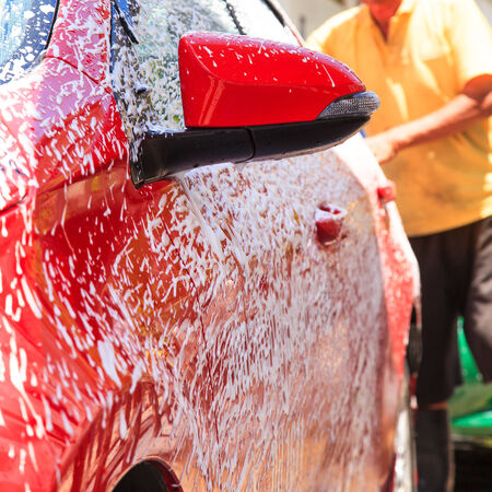 Washing car photo