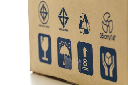 The symbols on cardboard photo