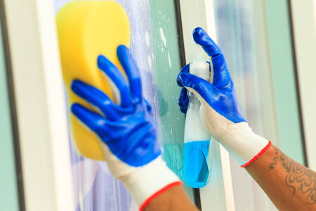 Glass cleaning  photo