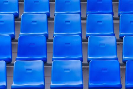 soccer fans: Blue Seats On Stadium