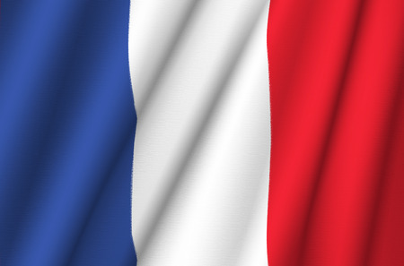 Tissu drapeau de la France Banque d'images - 35217161