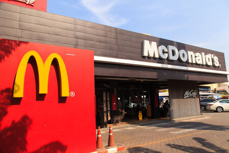 mc: BANGKOK, THAILAND- DECEMBER 22, 2014: McDonalds resturant on 22 December 2014 in Bangkok. It is the worlds largest chain of hamburger fast food restaurants.