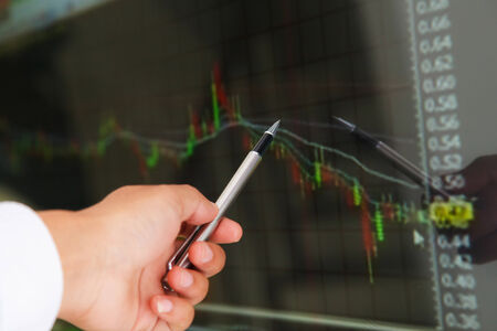 Market analyzing, Business charts and markets on display photo