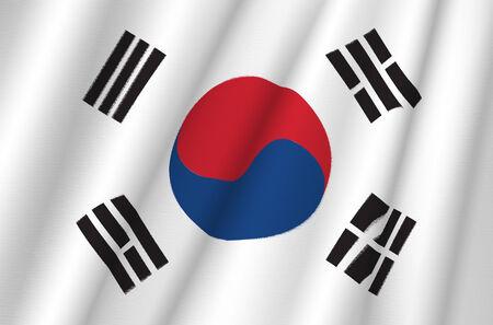 Fabric Flag of South Korea photo