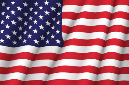 Tissu Drapeau des États-Unis d'Amérique Banque d'images - 35219659
