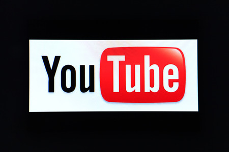 BANGKOK, THAILAND - DECEMBER 25, 2014: the logo of the brand Youtube website on computer screen on December 25, 2014 in Bangkok, Thailand. YouTube is a video-sharing website by Google