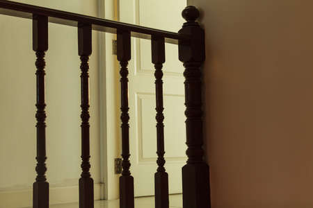 balustrade: Hardwood balustrade floor and bedroom