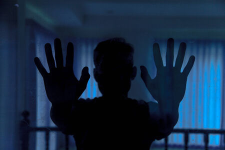 pleading: Shadow of men behind glass