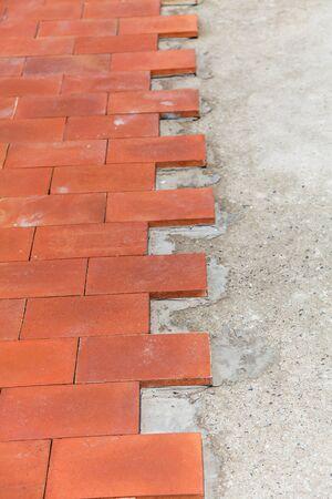 brick floor: Fondo del ladrillo piso