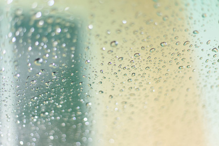 Rain on glass 写真素材