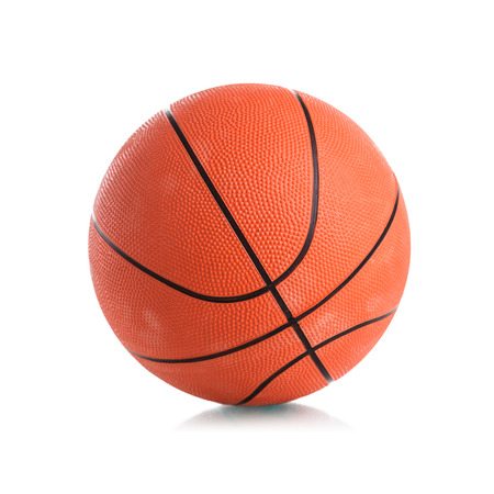 Basketball ball on white  Banque d'images