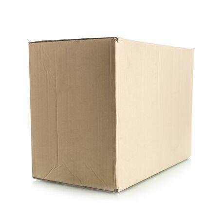 corrugated box: Corrugated Box on white background Stock Photo