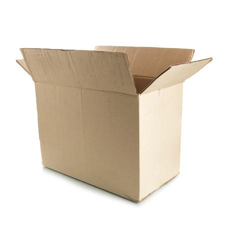 corrugated box: Corrugated Box on white  Stock Photo