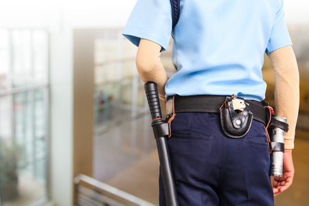 armed: Security guard Stock Photo
