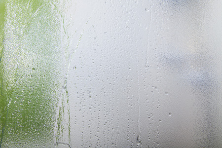 shower: Glass texture background on shower room in bathroom with water drops
