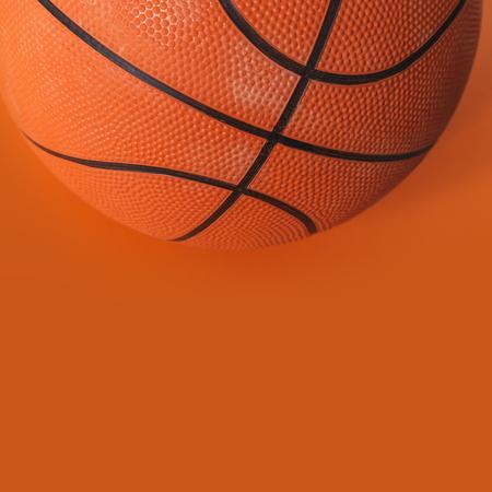 Basketball on an orange background