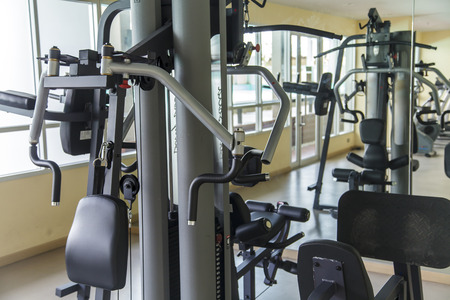 private club: Gym machine in sport gym