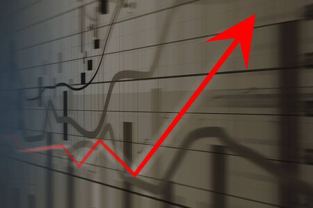 concepts: Financial and business graphs, Finance concept Stock Photo