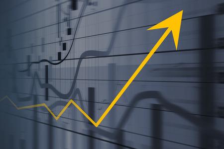 金融とビジネス グラフ、財務の概念