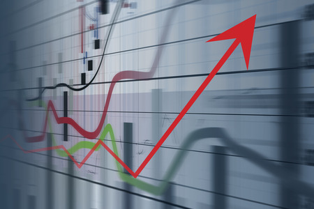 Financial and business graphs, Finance concept Stock Photo