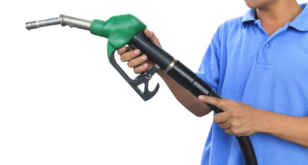 pump: Gas pump for refueling car on gas station