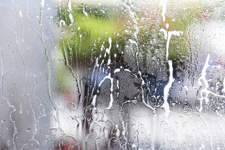 soapy: Car wash from inside the windscreen soapy