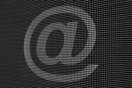 led screen: E-mail on led screen Stock Photo
