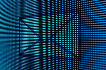 username: E-mail on led screen Stock Photo
