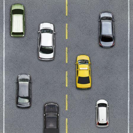 aerial: Vista aérea de la carretera y la autopista