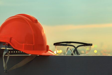goggles: Safety helmet and goggles Stock Photo