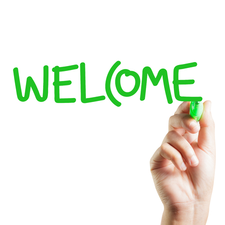 welcome: Hand written welcome