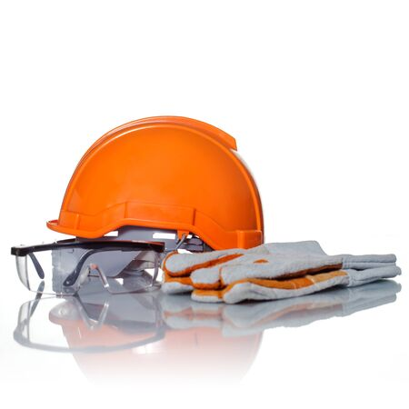 safety: Safety helmet, construction safety equipment Stock Photo