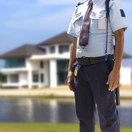 uniformes: Guardia de seguridad  Foto de archivo