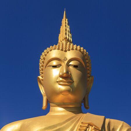 Face of Big Buddha Stock Photo