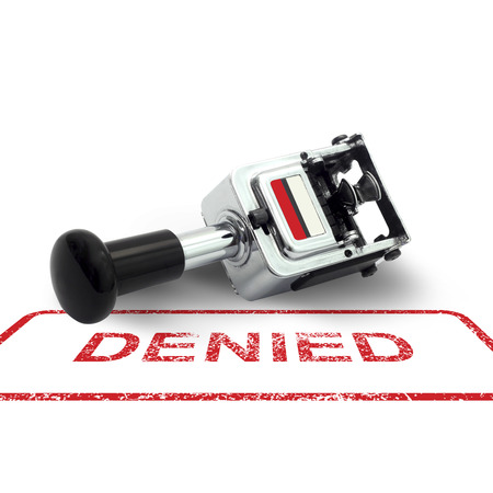 denied: Rubber Stamp DENIED concept on a white background