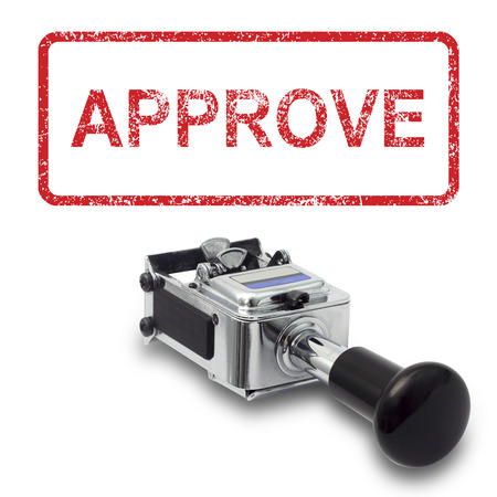 Rubber Stamp APPROVE concept on a white background Stock Photo
