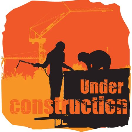 scowling: Under construction, T-Shirt Designs, illustration